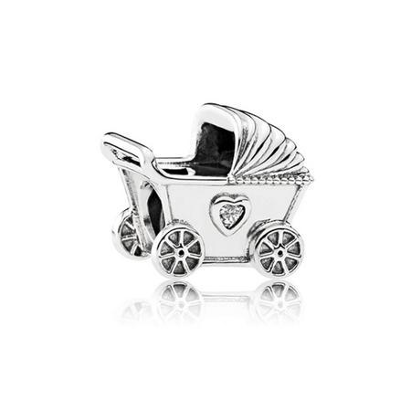 Baby Pram Charm SterlingSilver