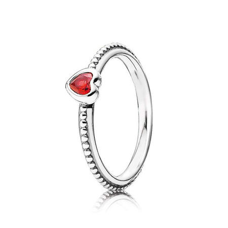 Red Ruby Heart Ring