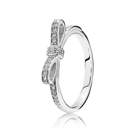 Sterling Silver Bow Ring Silver
