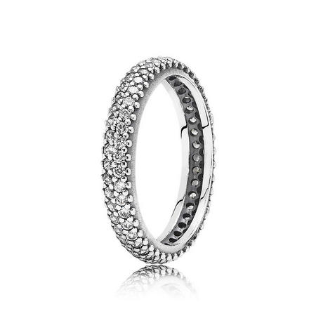 Sterling Silver Clear Cubic Zirconia Eternity Ring
