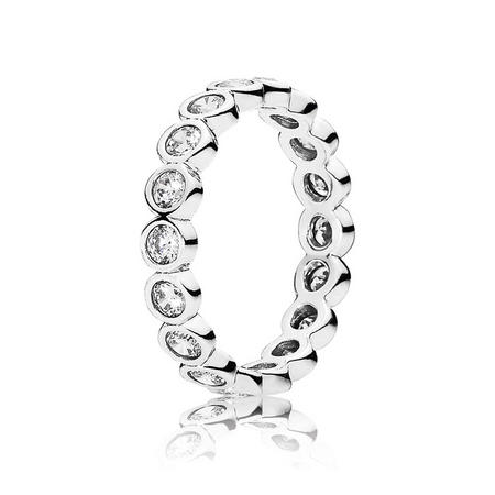 Sterling Silver Large Round Eternity Ring