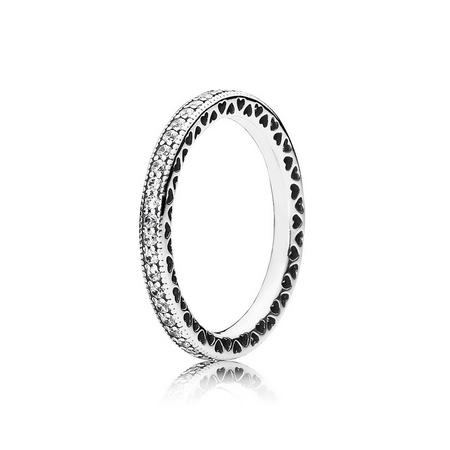 Sterling Silver Hearts Of Pandora Ring