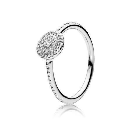 Cubic Zirconia Stackable Ring Silver