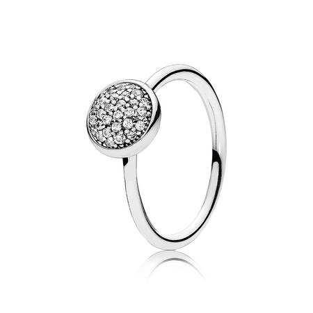Dazzling Droplet Ring Silver