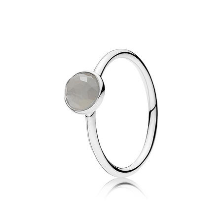 June Droplet Ring Silver