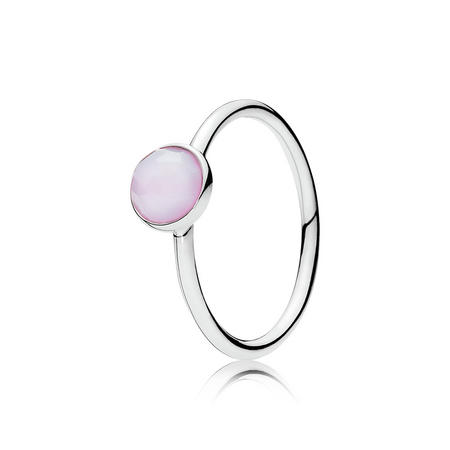 October Droplet Ring Silver