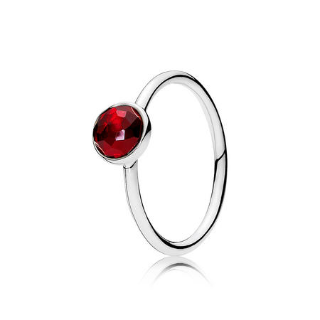 July Droplet Ring Silver