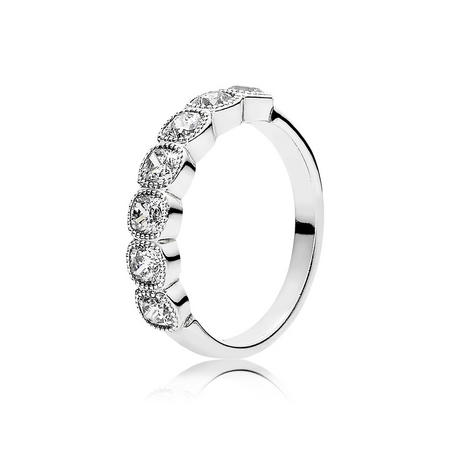 Alluring Cushion Ring Silver
