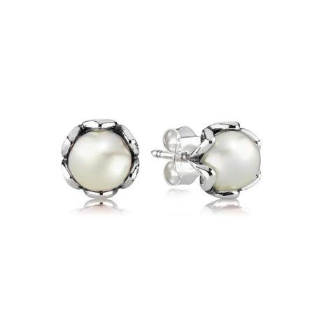 Silver White Freshwater Culture Pearl Earrings