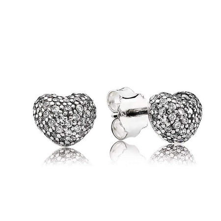 Sterling Silver Stud Earring With Cubic Zirconia