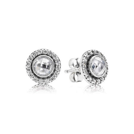 Pave Surround Ring Earrings