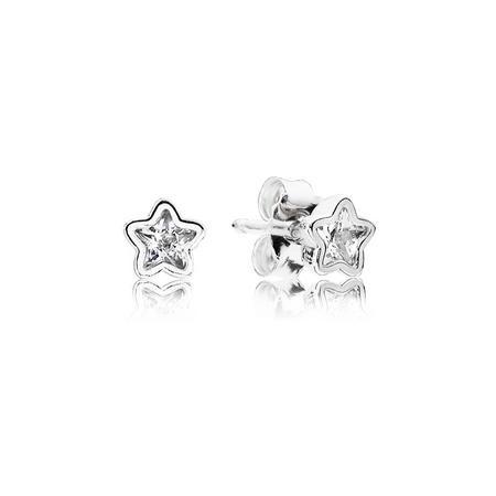 Sterling Silver Star Stud Earrings Earrings