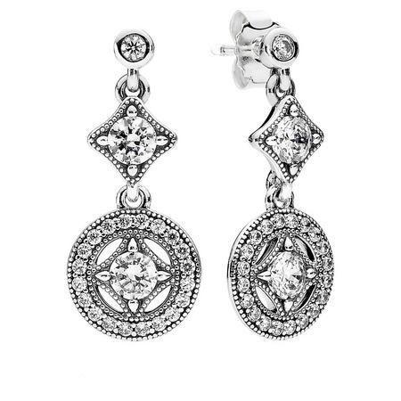 Vintage Allure Earrings Silver