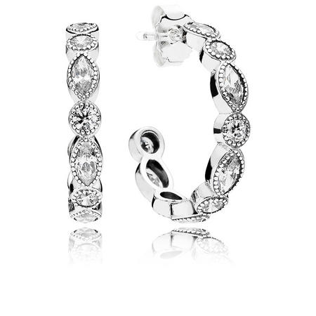 Alluring Brilliant Marquise Earrings Silver