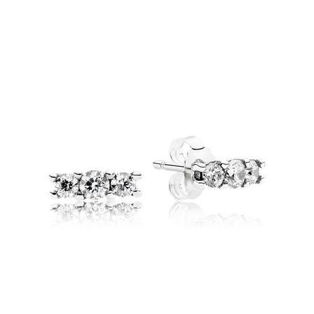 Sparkling Elegance Earrings Silver