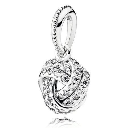 Love Knot Silver Pendant