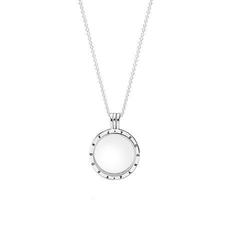 Floating Locket Necklace Silver