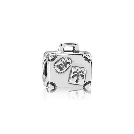 Suitcase Silver Charm