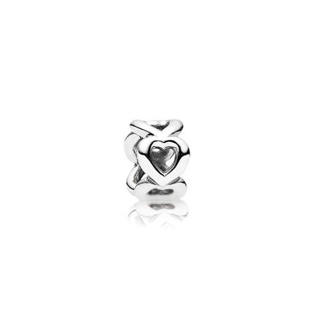 Openwork Hearts Silver Spacer