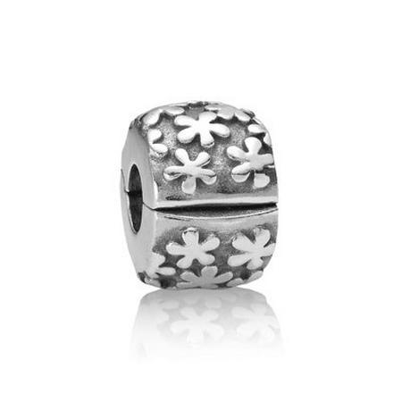 Floral Silver Clip