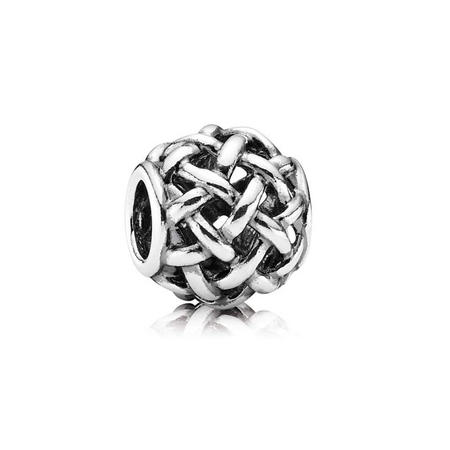 Abstract Openwork Silver Charm