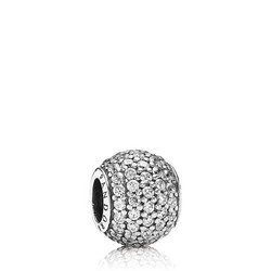Pave Silver Charm - Cubic Zirconia