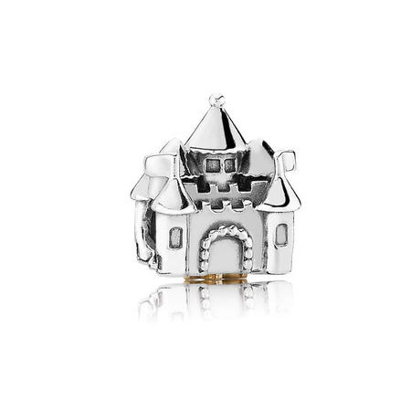 Castle Charm In Sterling Silver