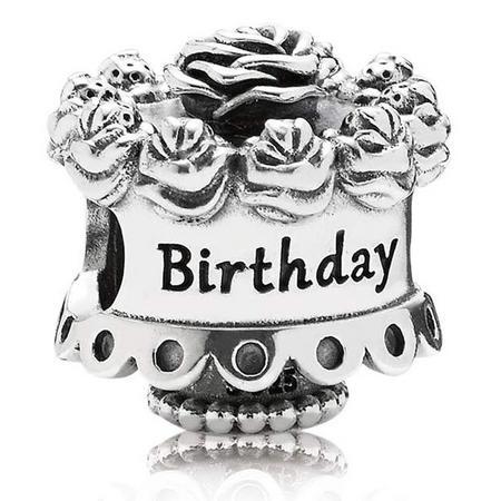 Birthday Cake Charm Silver