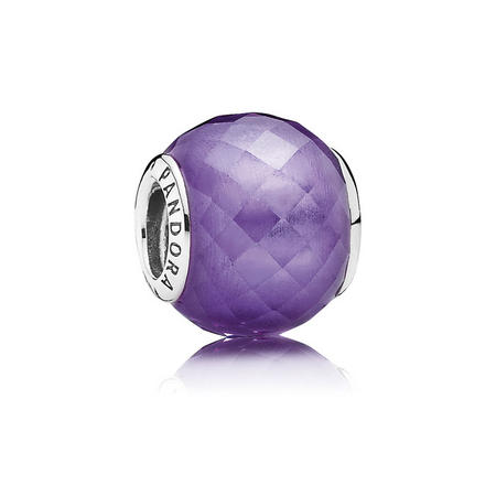 Sterling Silver Purple Petite Facets Charm