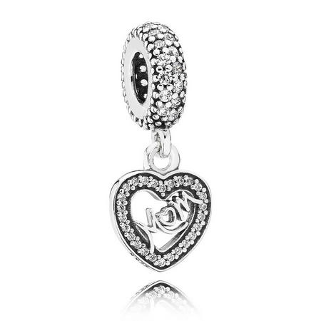 Sterling Silver Centre Of My Heart Dangle Charm