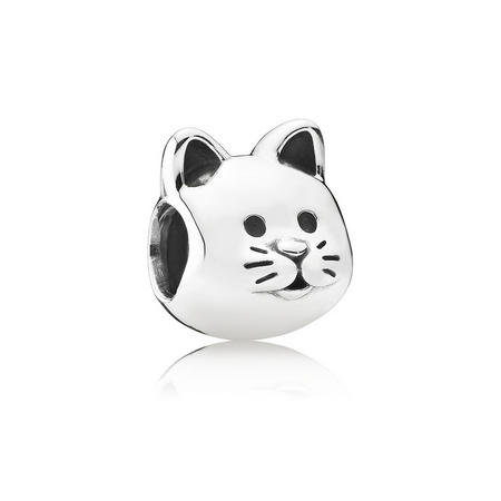 Sterling Silver Curious Cat Charm