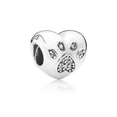 Sterling Silver I Love My Pet Charm