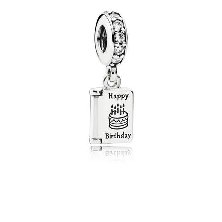 Sterling Silver Birthday Wishes Dangle Charm