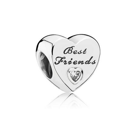 Sterling Silver Friendship Heart Charm