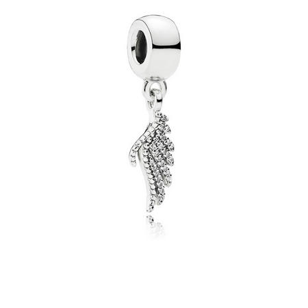 Sterling Silver Majestic Feathers Dangle Charm
