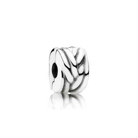 Sterling Silver Braided Silver Clip Clip
