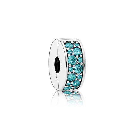 Teal Shining Elegance Charm Green