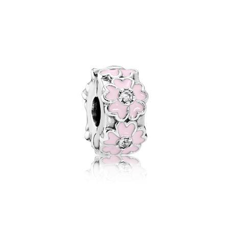 Primrose Enamel Charm Pink