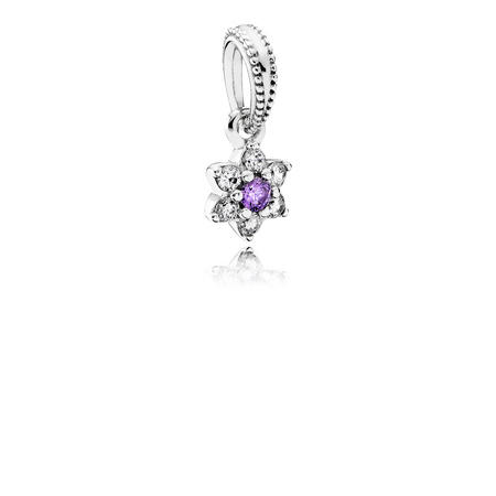 Forget Me Not Dangle Charm Silver