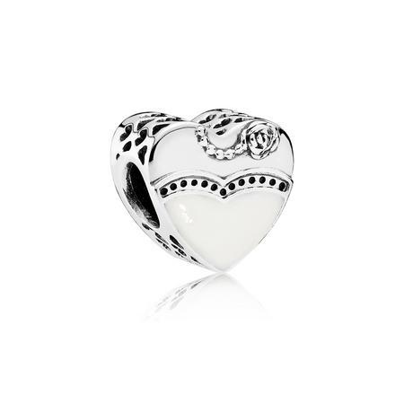 Bride & Groom Charm Silver