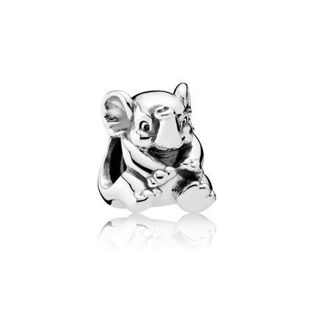 Lucky Elephant Charm Silver