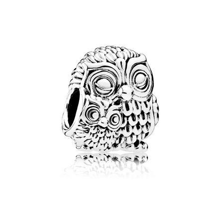 Charming Owls Charm Silver
