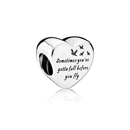 Heart Of Freedom Charm Silver