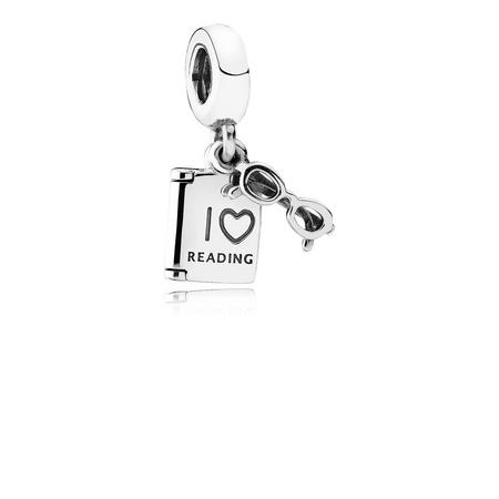 Love Reading Charm Silver