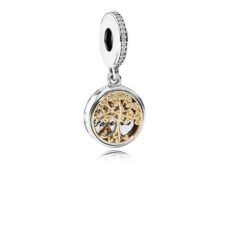 Family Roots Charm Two Tone