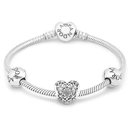 June Birthstone Bracelet Silver