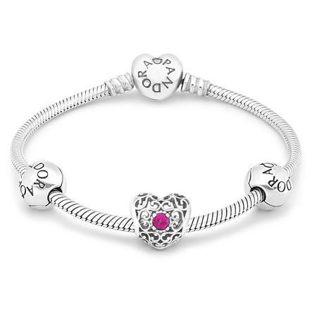 July Birthstone Bracelet Pink