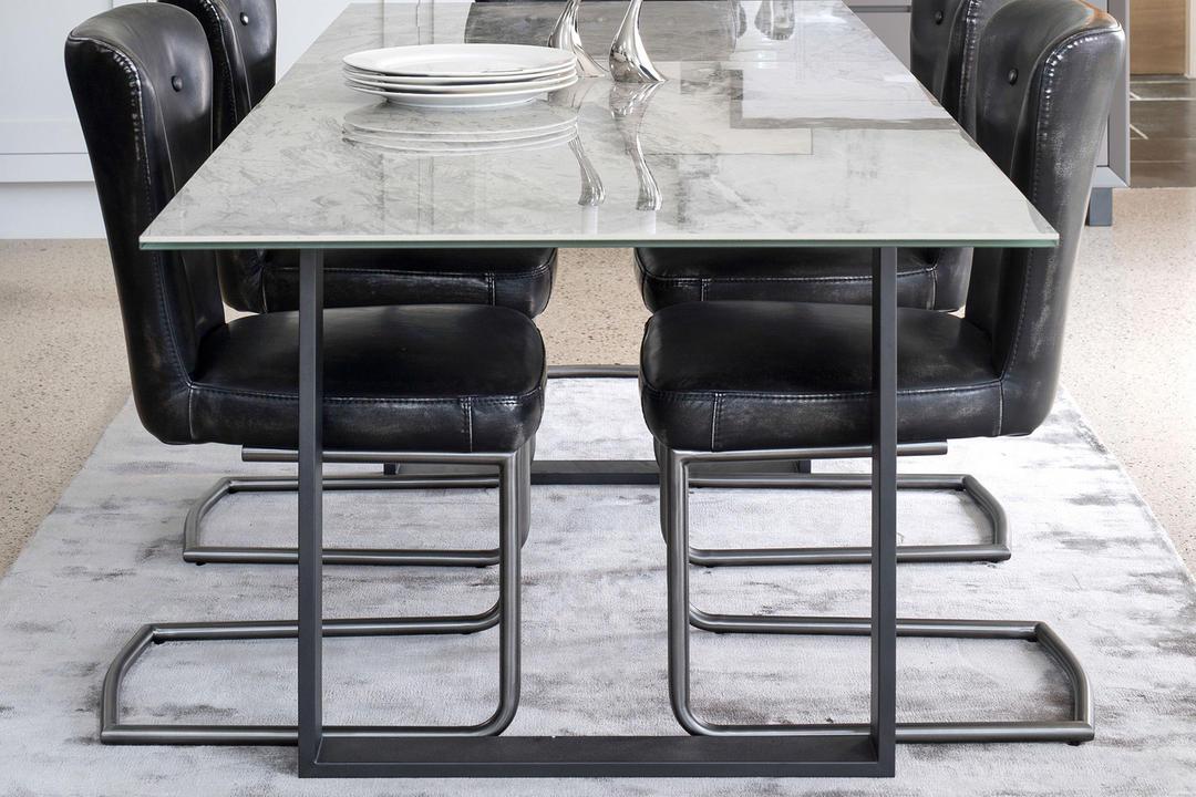 Panama 176cm-216cm Extending Dining Table, Light Grey