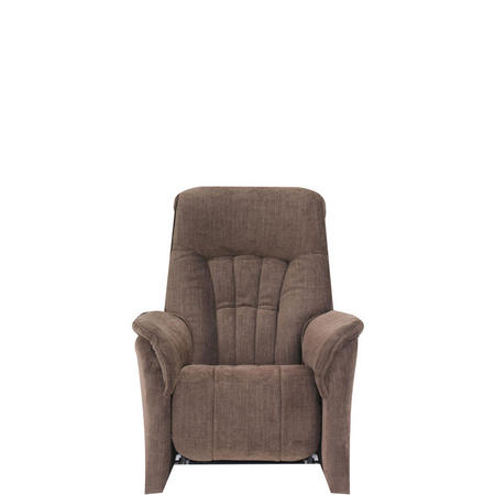 Rhine Small Armchair With Manual Recliner Cocktail Brown