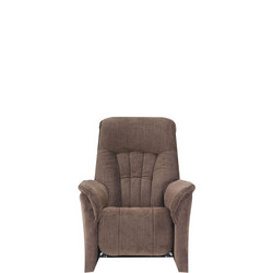 Rhine Small Armchair With Power Recliner Cocktail Brown